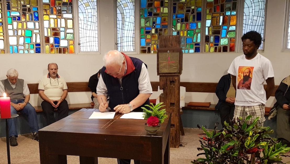 assinatura do pacto comboniano pela casa comum, de janeiro de 2020, expressão de nosso compromisso com a vida, a natureza e a ecologia