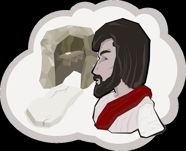 Jesus vivo deixa para traz a cruz e o tumulo vazio, sinal de esperança para a Bandeira do Brasil hackeada que produz ossos e morte