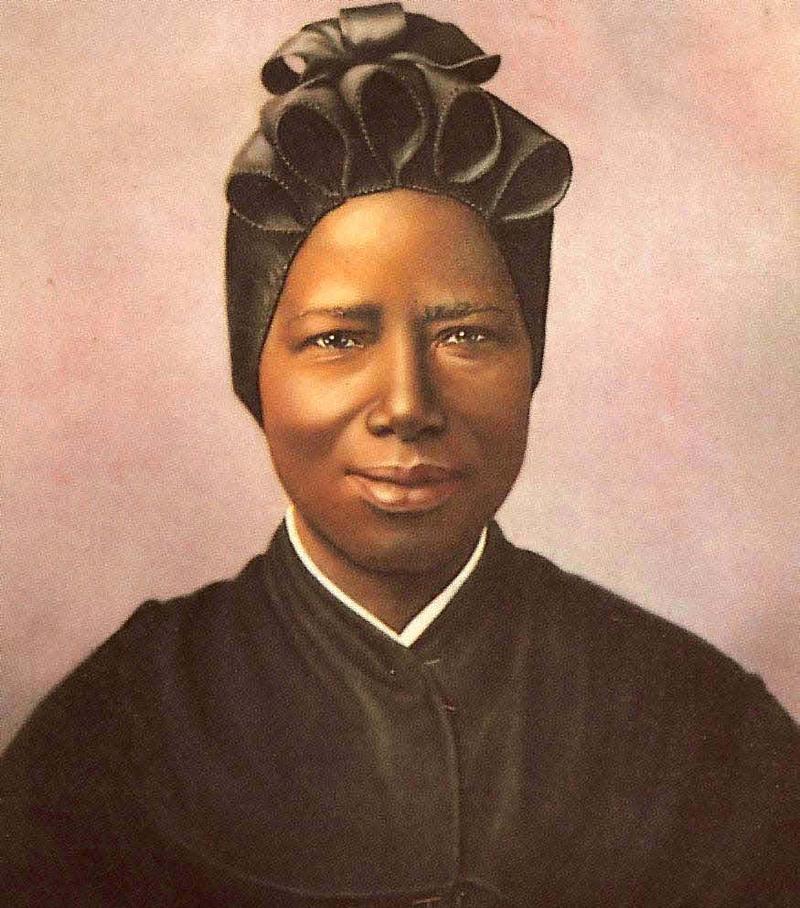 santa josefina bakhita, a freira sudanesa que tinha sido escravizada e torturada, amor em vez de violencia