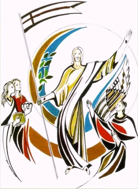 Na pascoa jesus vitorioso anuncia o triunfo da vida sobre as forças da opressão, da violencia e da morte